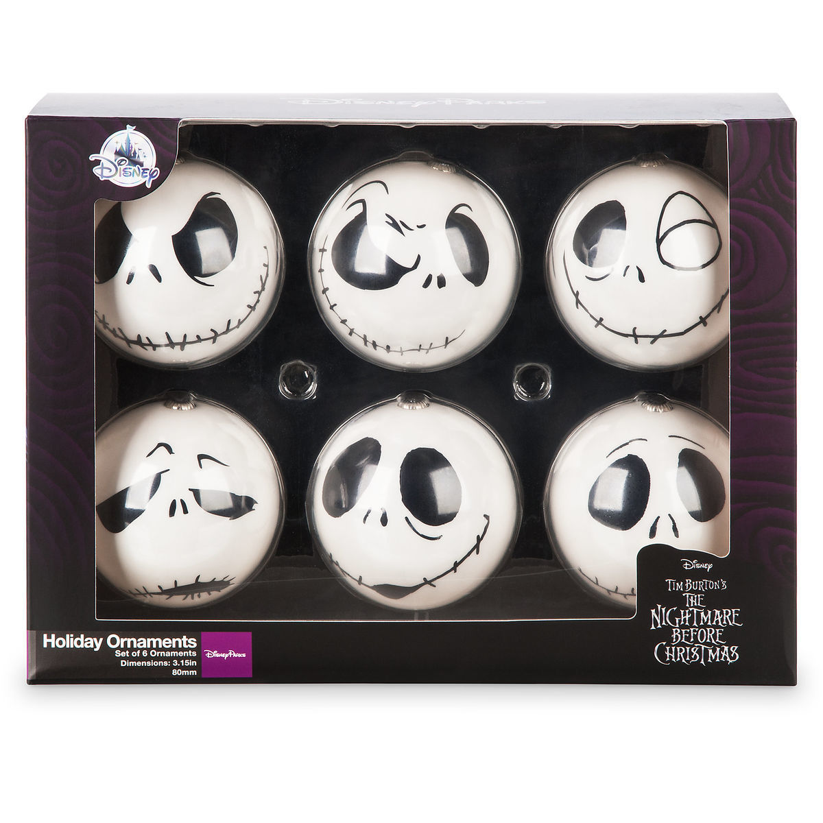 product image of jack skellington holiday ornaments the nightmare before christmas 2