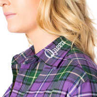Image of Evil Queen Flannel Shirt for Adults by Cakeworthy # 3