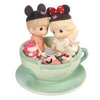 Image of Disney Boy and Girl ''It's a Tea-riffic Day to Be with You'' Figurine - Precious Moments # 1