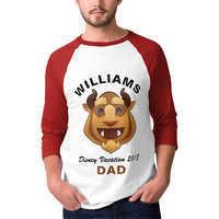 Image of Beast Emoji Vacation Raglan T-Shirt for Men - Customizable # 1