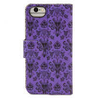 Image of Haunted Mansion Wallpaper Reversible iPhone 7/6/6S Portfolio Case # 6