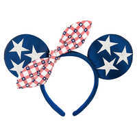 Image of Minnie Mouse Americana Ears Headband # 1