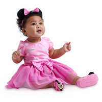 Image of Minnie Mouse Costume Bodysuit for Baby - Pink - Personalizable # 2