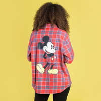 Image of Mickey Mouse Flannel Shirt for Adults by Cakeworthy # 6