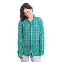 Image of Tinker Bell Flannel Shirt for Adults by Cakeworthy # 4