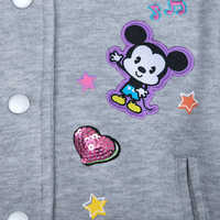 Image of Mickey and Minnie Mouse Cutie Varsity Jacket for Girls # 5
