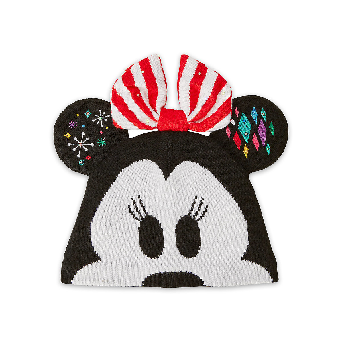 3da33eb0740 Product Image of Minnie Mouse Light-Up Knit Holiday Ear Hat for Kids   1