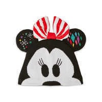 Image of Minnie Mouse Light-Up Knit Holiday Ear Hat for Kids # 1