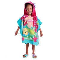 Image of Ariel and Flounder Hooded Towel for Kids # 1
