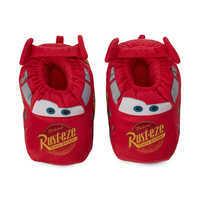 Image of Lightning McQueen Plush Slippers for Kids # 3