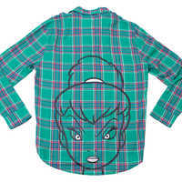 Image of Tinker Bell Flannel Shirt for Adults by Cakeworthy # 1