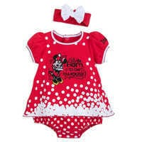 Image of Minnie Mouse Bodysuit Set for Baby - Disneyland # 1