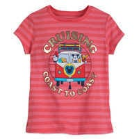Image of Mickey Mouse and Friends ''Cruising Coast to Coast'' T-Shirt for Girls # 1