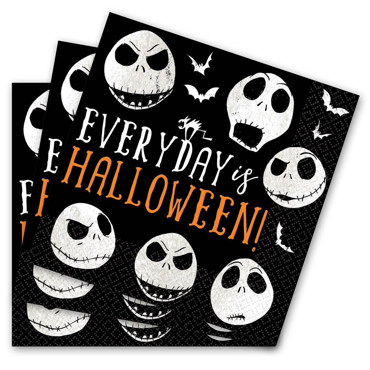 Product Image of Jack Skellington Lunch Napkins - The Nightmare Before Christmas # 1
