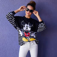 Image of Mickey Mouse Striped Spirit Jersey for Adults # 2