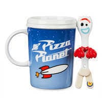 Image of Pizza Planet Mug and Forky Spoon Set - Toy Story 4 # 5