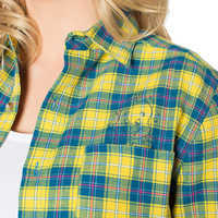 Image of Flounder Flannel Shirt for Adults by Cakeworthy - The Little Mermaid # 3