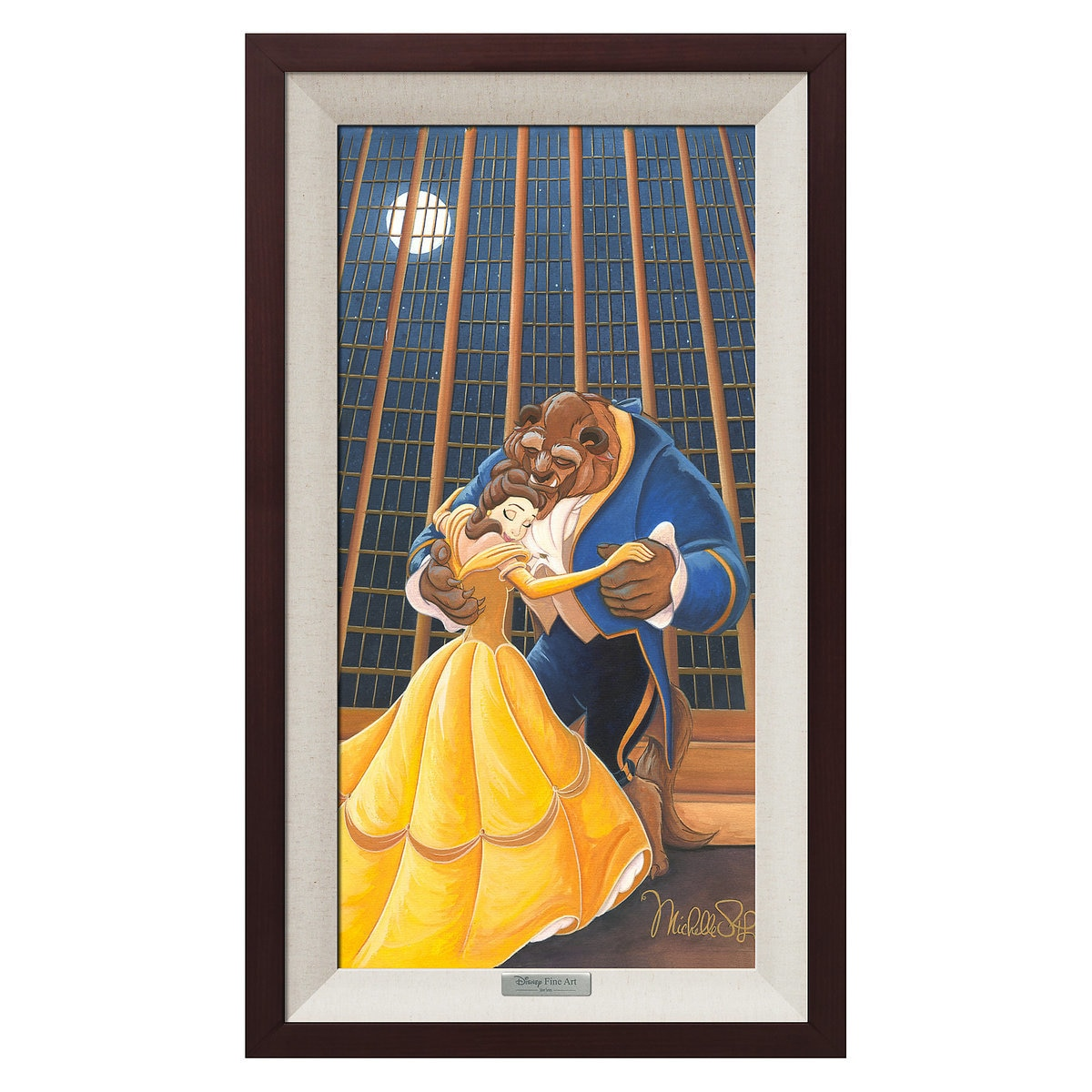 Beauty and the beast a beautiful dance giclée on canvas by michelle st laurent