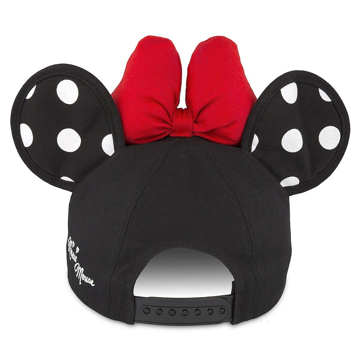 minnie mouse polka dot ears baseball cap for adults shopdisney