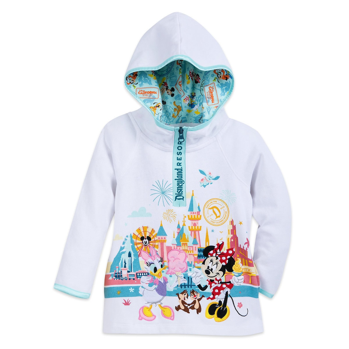 eef262ced Product Image of Minnie Mouse and Friends Pullover Zip Hoodie for Girls -  Disneyland # 1