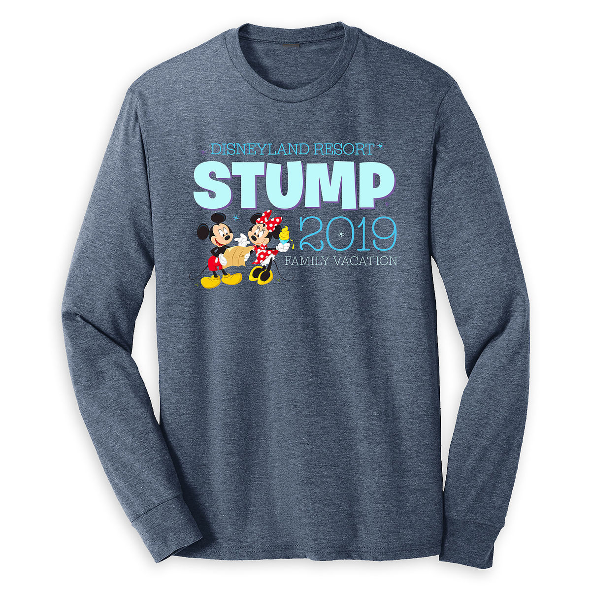 Mickey And Minnie Mouse Family Vacation Long Sleeve Shirt For Adults