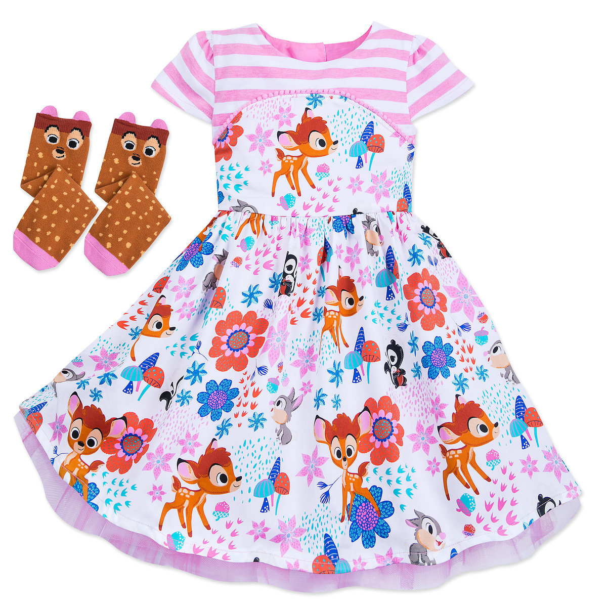 1429a2a761a87 Product Image of Bambi Dress and Socks Set for Girls - Disney Furrytale  friends # 1