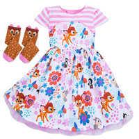 Image of Bambi Dress and Socks Set for Girls - Disney Furrytale friends # 1