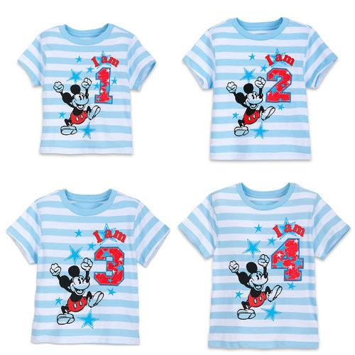 Mickey Mouse Birthday Tee for Boys