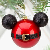 Image of Santa Mickey Mouse Icon Ornament # 2