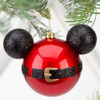 Image of Santa Mickey Mouse Icon Ornament # 2