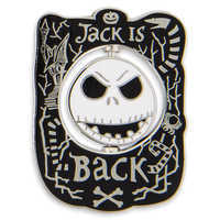 Image of Jack Skellington Spinner Pin # 1