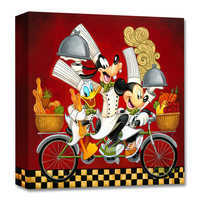 Image of Mickey Mouse and Friends ''Wheeling with Flavor'' Giclée on Canvas by Tim Rogerson # 1
