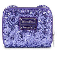 Image of Minnie Mouse Potion Purple Sequined Wallet by Loungefly # 1