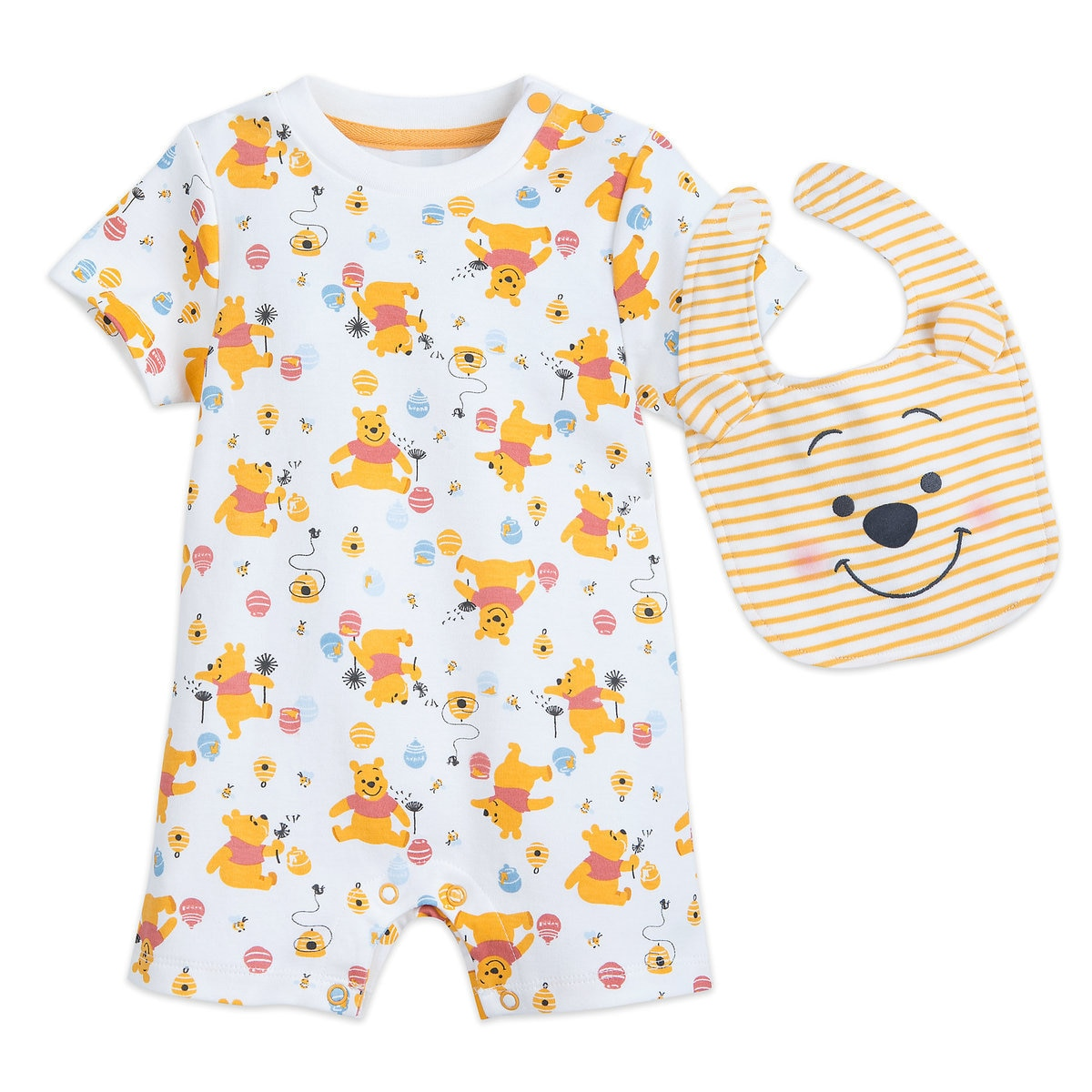 Winnie The Pooh Romper And Bib Set For Baby Shopdisney