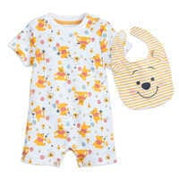 Image of Winnie the Pooh Romper and Bib Set for Baby # 1