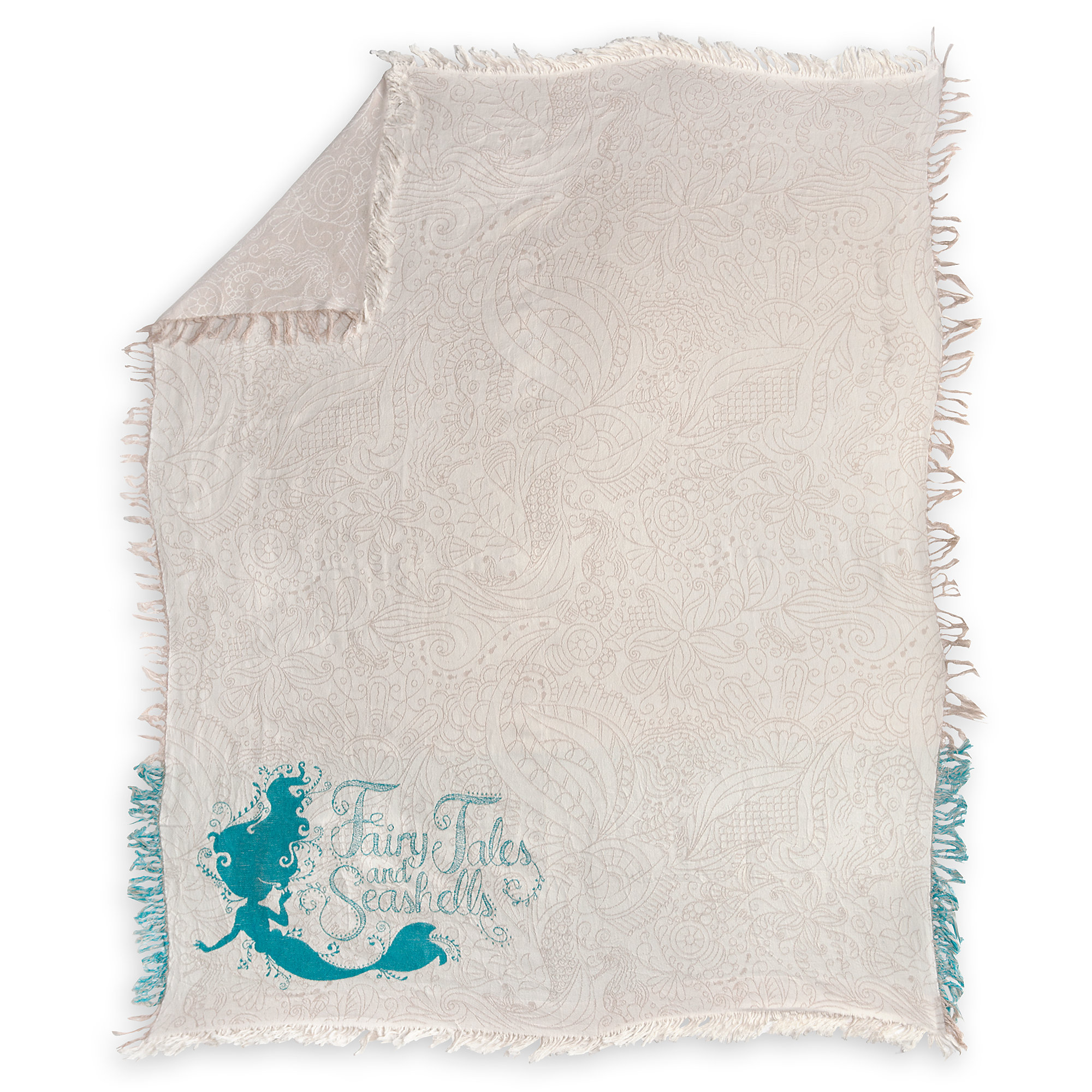 Ariel Art Nouveau Throw Blanket