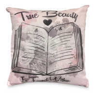 Image of Beauty and the Beast Decorative Pillow # 1