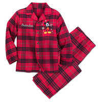 Image of Mickey Mouse Holiday Plaid PJ Set for Boys - Personalizable # 1
