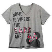 Image of Minnie Mouse ''Home is Where the Ears Are'' T-Shirt for Women - Extended size # 1