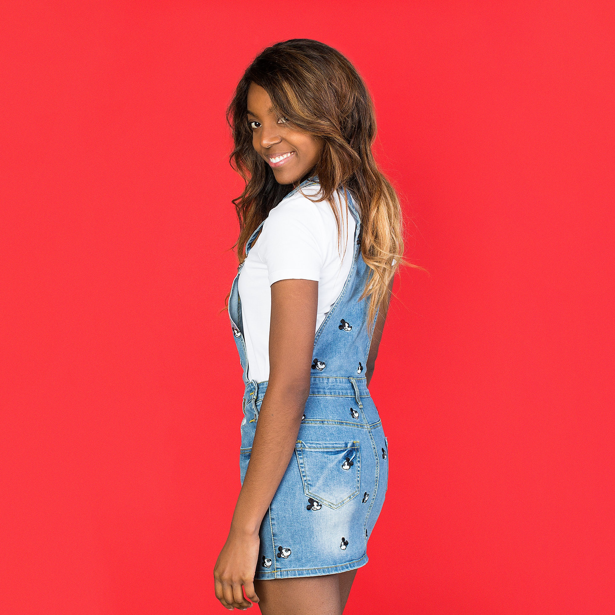 4c012da12 Mickey Mouse Denim Overalls Dress by Cakeworthy has hit the shelves ...