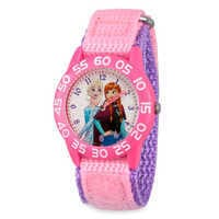 Image of Elsa and Anna Time Teacher Watch - Kids # 1