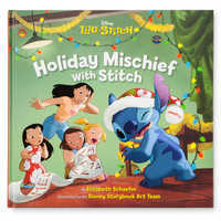 Image of Stitch Poseable Plush and ''Holiday Mischief with Stitch'' Book Set # 5
