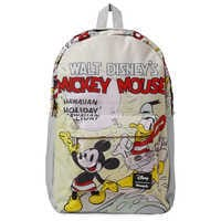 Image of Mickey Mouse and Donald Duck Hawaiian Holiday Backpack by Loungefly # 1