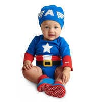 Image of Captain America Costume Bodysuit for Baby # 2
