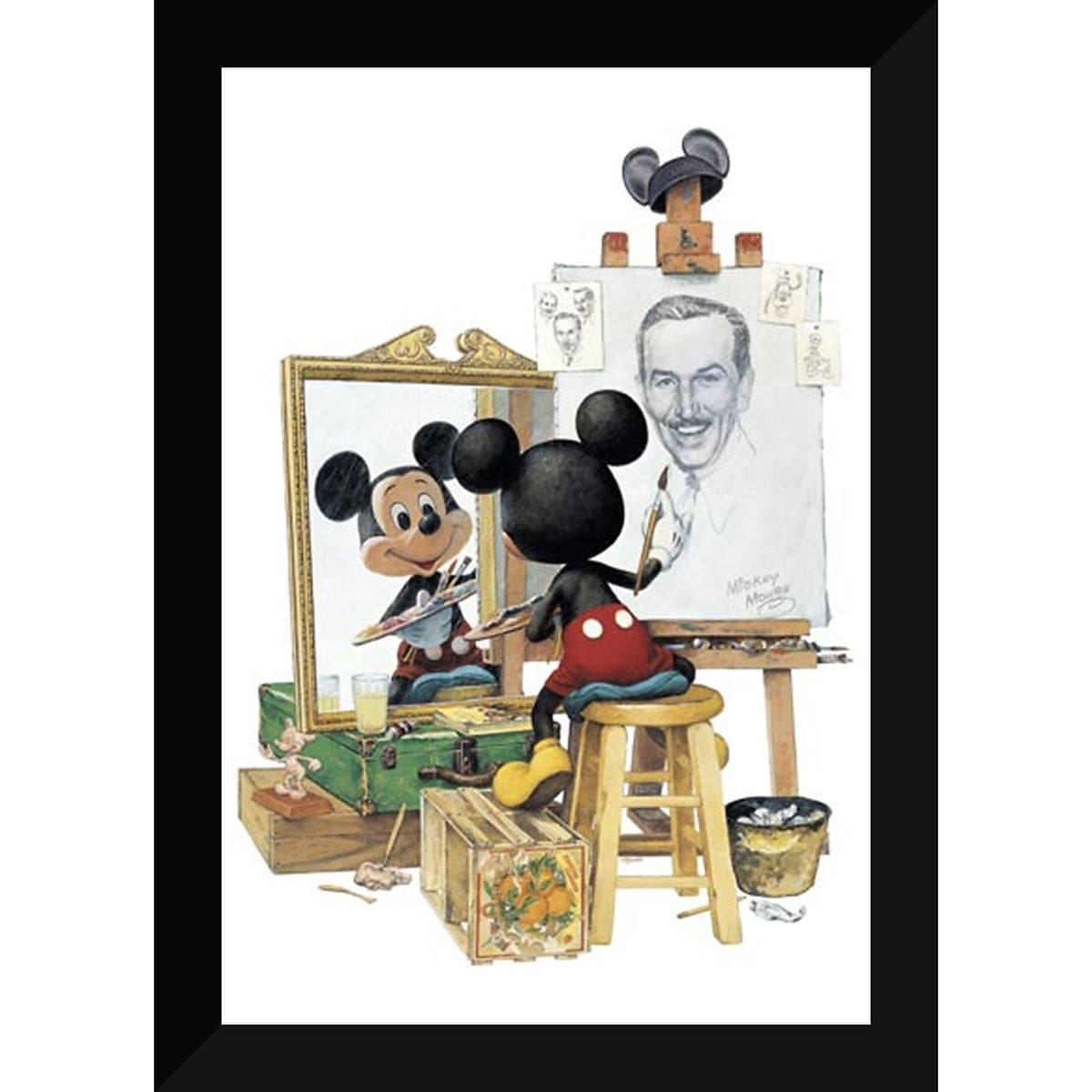 Walt Disney Triple Self Portrait By Charles Boyer Shopdisney