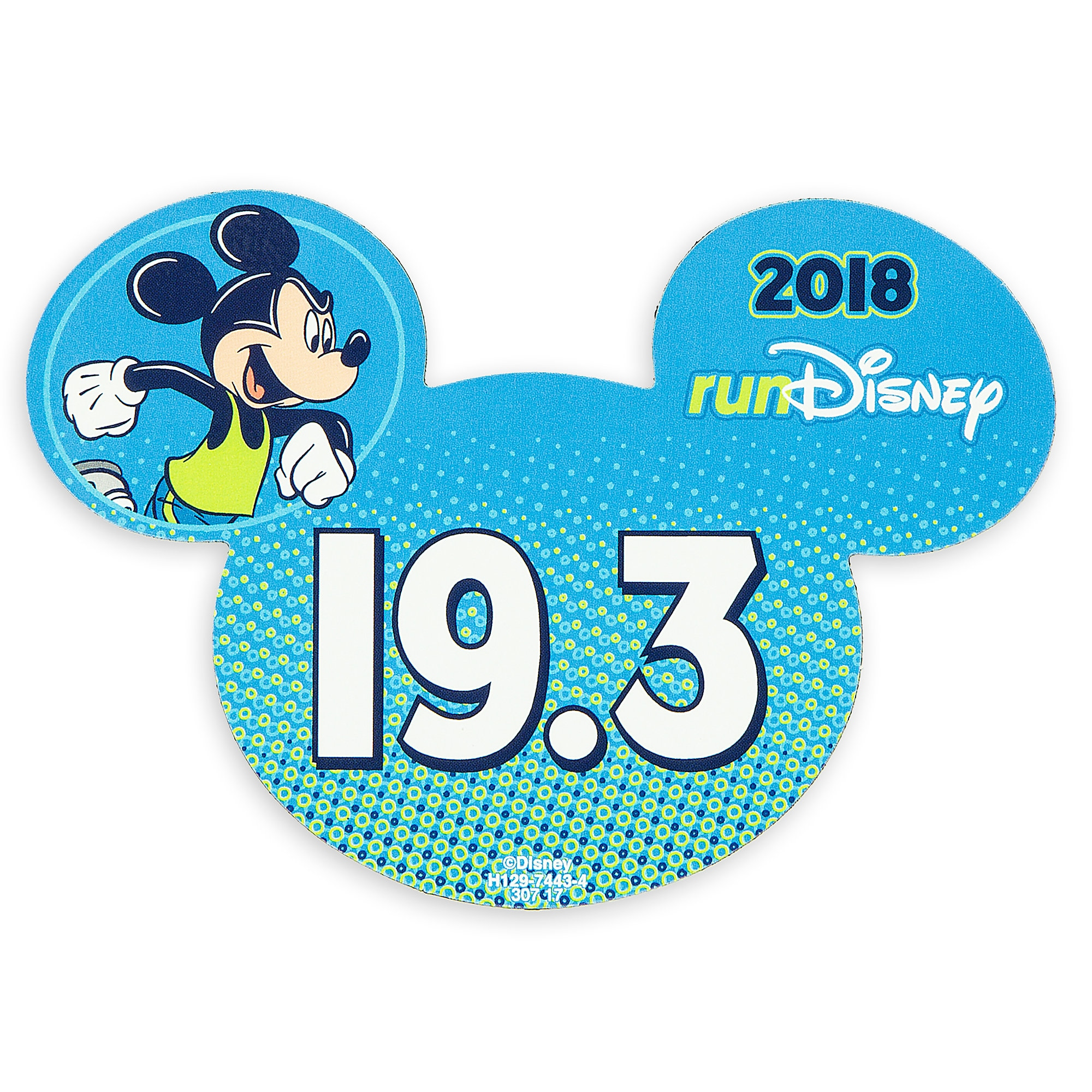 Mickey Mouse runDisney 2018 Magnet - 19.3