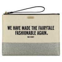 Image of ''We Have Made the Fairytale Fashionable Again'' Canvas Glitter Clutch by kate spade new york # 1
