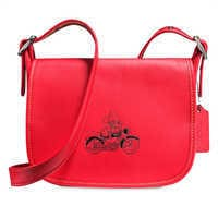 Image of Mickey Mouse Patricia Saddle Leather Bag by COACH - Red # 1