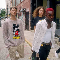 Image of Mickey Mouse Haldon Sweater for Adults by rag & bone # 3