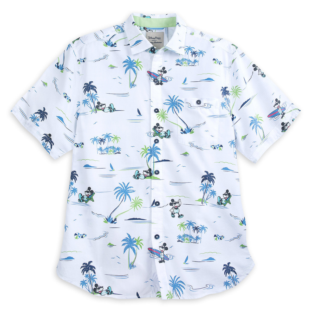 26706023 Product Image of Mickey Mouse Button Shirt for Men by Tommy Bahama - White  # 1